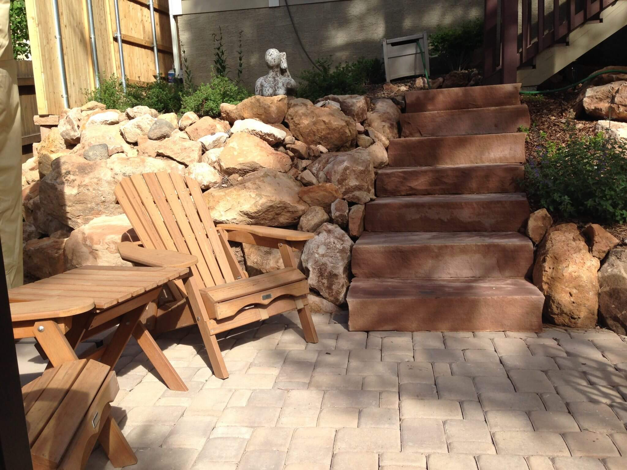 The Flynn Residence- Pavestone Plaza patio and flagstone steps