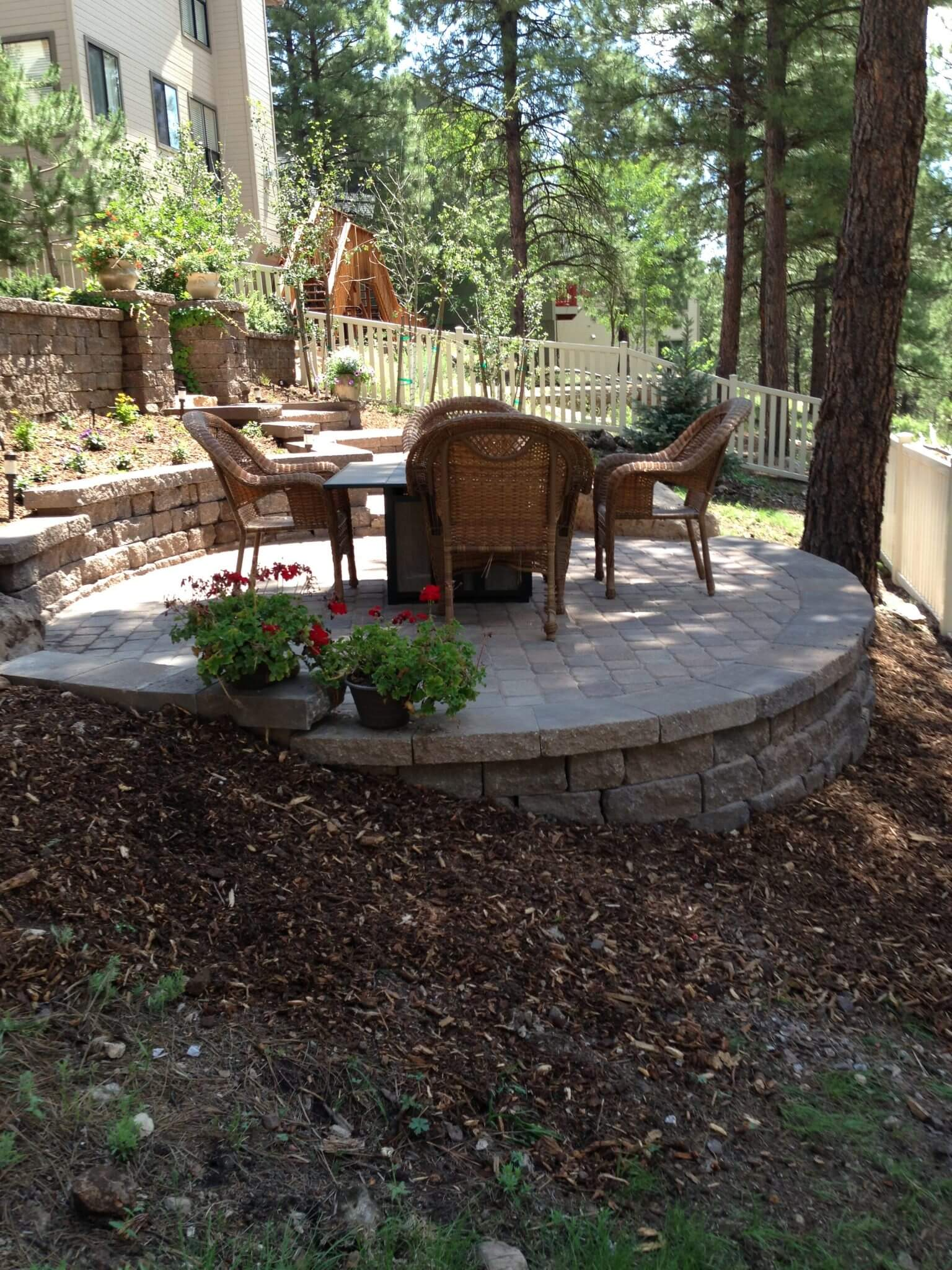 The Oltrogge Residence- Celtok wall and paver patio