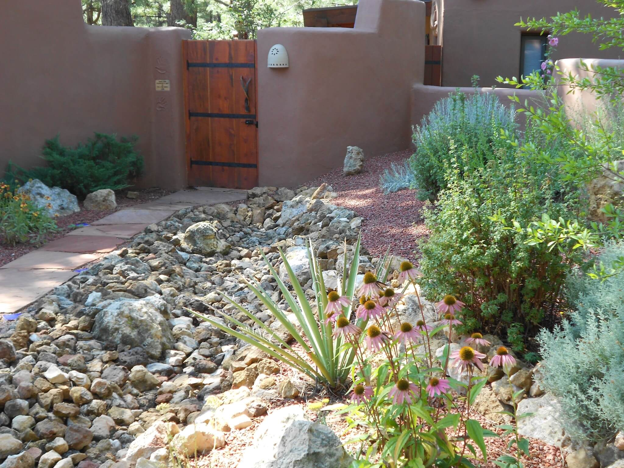 Dry Stream Bed Courtyard Xeriscape Flagstaff Native