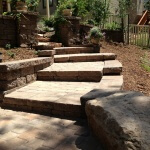 Celtic block wall and paver patio