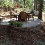 Celtic wall and paver patio